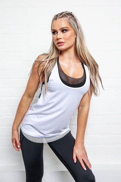 LILYBOD Cienna Top - White / Black
