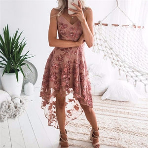 Straps High Cocktail Dresses Sexy Backless Appliques
