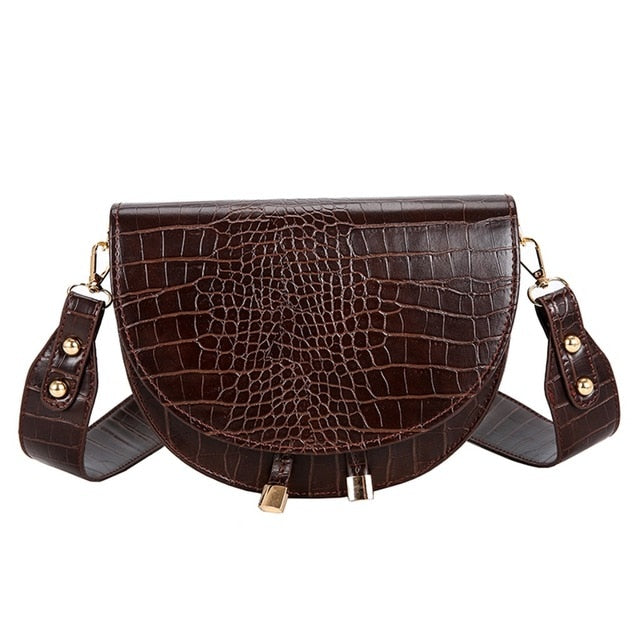 Luxury Crocodile Pattern Crossbody Bags for Women