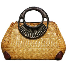 Load image into Gallery viewer, Women Straw Bags Female Bamboo Summer