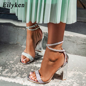 Crystal Sexy Women Sandals Square