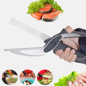 Stainless Steel Kitchen Scissors 2 in 1 Cutting
