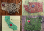 Load image into Gallery viewer, Nail + String Art | Choose Your State