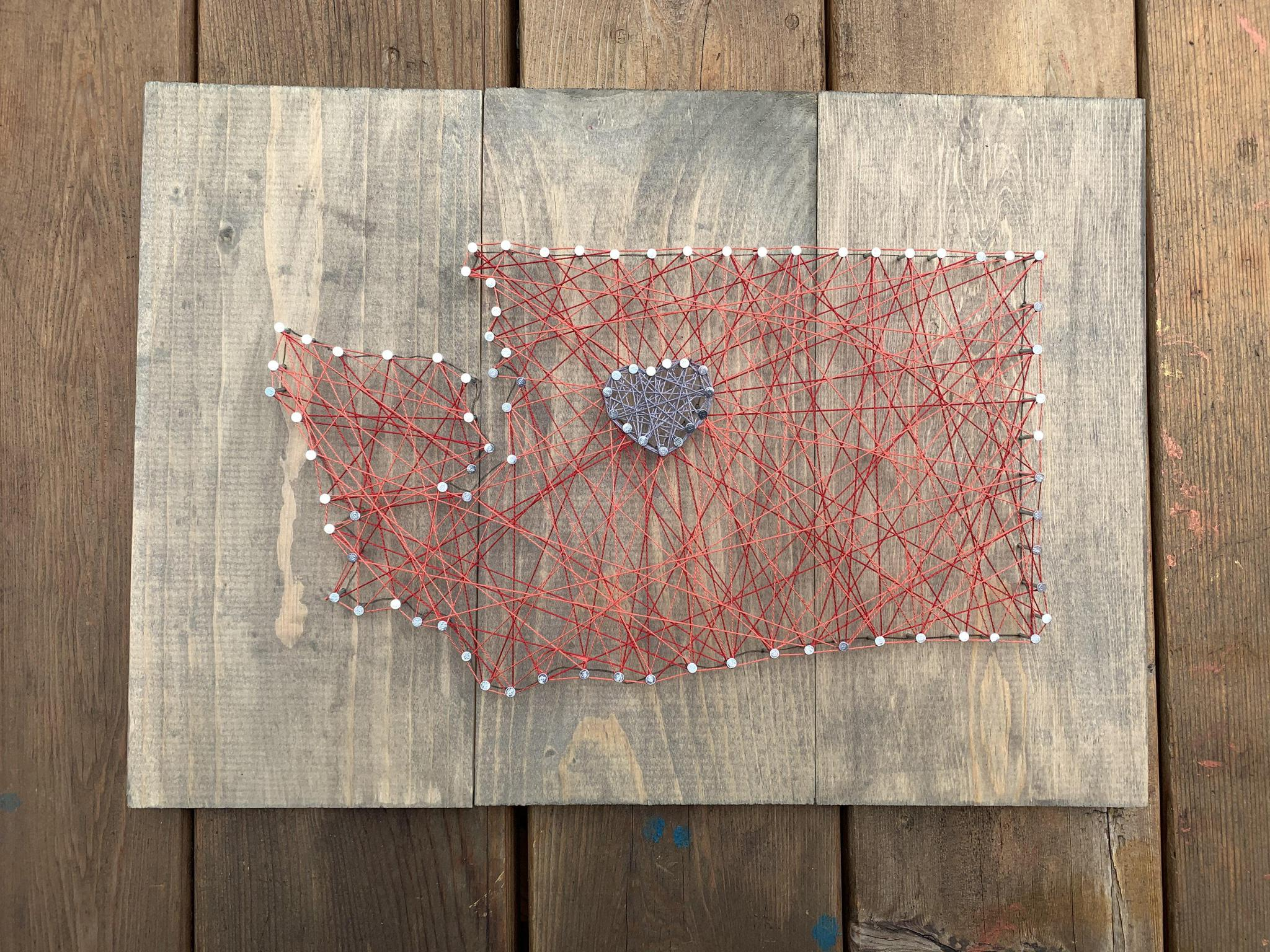 Nail + String Art | Choose Your State