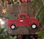 Load image into Gallery viewer, Nail + String Art | Christmas Truck