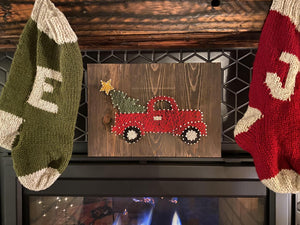Nail + String Art | Christmas Truck
