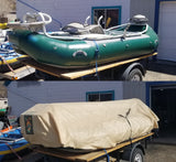 13' with front thigh brace and stern seat
