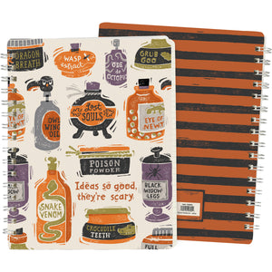 PRE-ORDER Halloween Spiral Notebook - Ideas So Good They're Scary