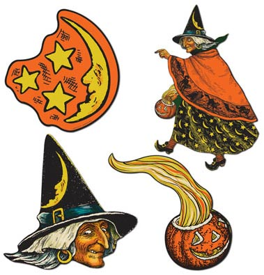 Beistle Halloween - Classic Witch Cutouts