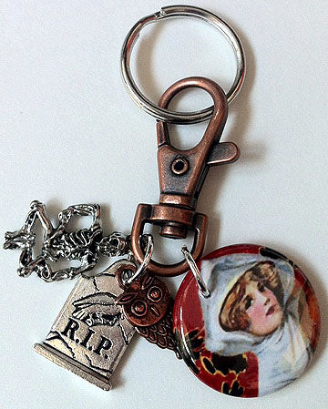 Ghost Lady Key Chain/Clip