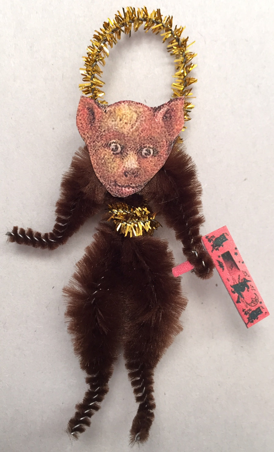 Baubles & Brew Bat Chenille Figure Ornament