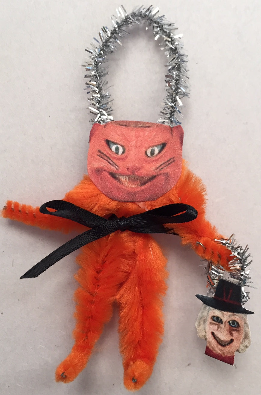 Baubles & Brew Cat Chenille Figure Ornament