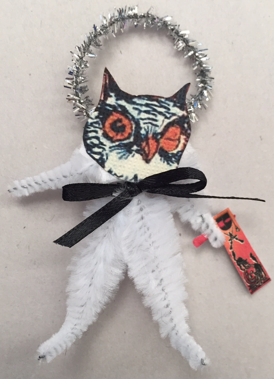 Baubles & Brew Owl Chenille Figure Ornament