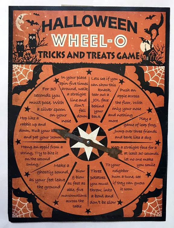 Bethany Lowe Halloween Wheel-O Trick or Treat Game