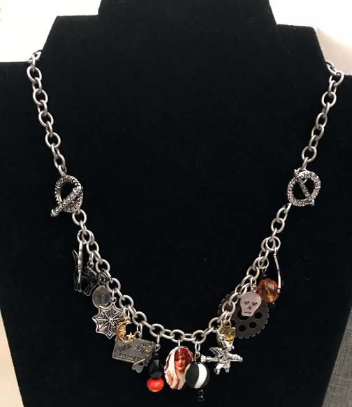 Spellbinding Witch Halloween Charm Necklace