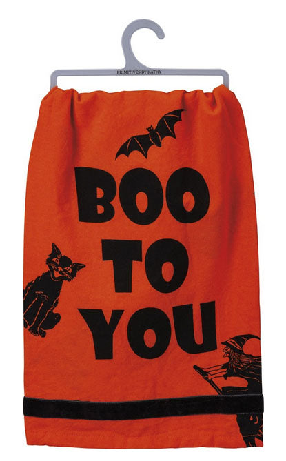 Boo To You Halloween Towel