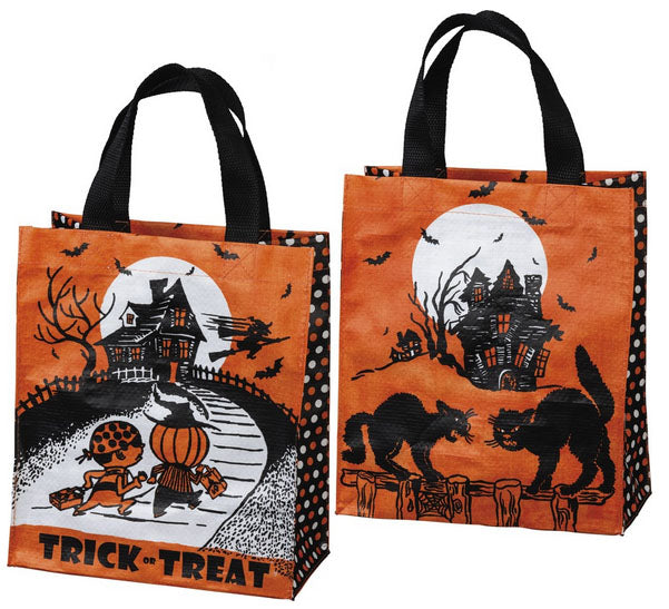 Retro Halloween Trick or Treat Tote Bag