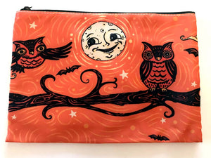 Johanna Parker Full Moon Owls Pouch or Cosmetic Bag
