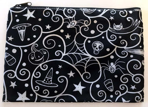 Johanna Parker Swirl Cobwebs Pouch or Cosmetic Bag