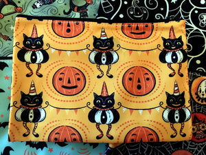 Johanna Parker Cats & Jacks Pouch or Cosmetic Bag