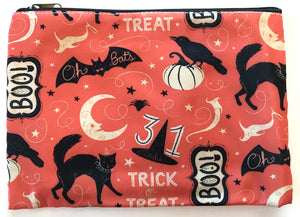 Johanna Parker Trick or Treat Boo Pouch or Cosmetic Bag