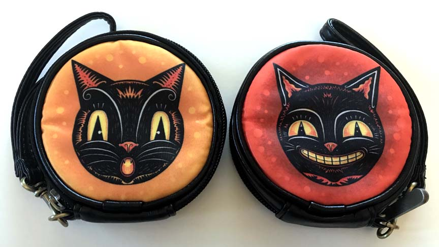 Johanna Parker Cats Round Case Or Cosmetic Bag