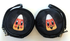 Johanna Parker Candy Corn Round Case Or Cosmetic Bag