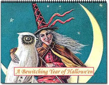 Load image into Gallery viewer, 2021 Halloween Betwitching Postcard Witches Calendar