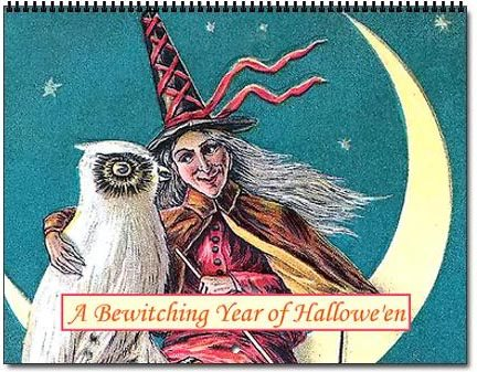 2021 Halloween Betwitching Postcard Witches Calendar