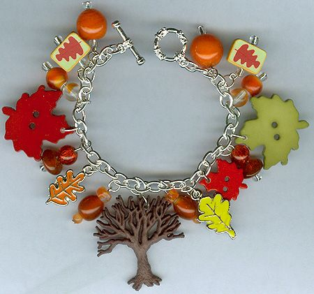 Autumn Trees Charm Bracelet