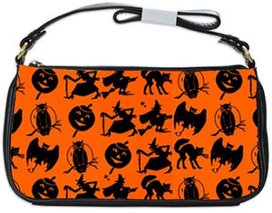 Halloween Bogie Silhouettes Clutch Bag
