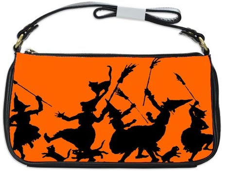 Halloween Witches Dance Clutch Bag