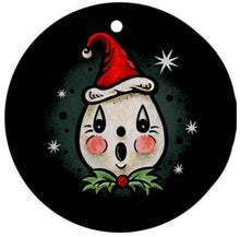 Load image into Gallery viewer, Johanna Parker Spookmas Cat & Ghost Ornament