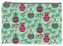Load image into Gallery viewer, Johanna Parker Spookmas Teal Owls Pouch