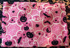 Johanna Parker Pink Cobwebs Pouch or Cosmetic Bag