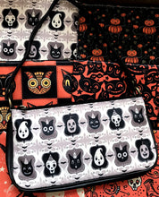 Load image into Gallery viewer, Johanna Parker B/W Spooky Ghoul-Friends Clutch Bag