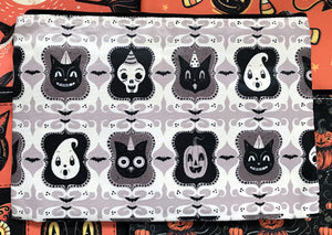Johanna Parker B/W Spooky Ghoul-Friends Pouch or Cosmetic Bag