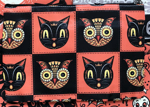 Johanna Parker Cat & Owl Pouch or Cosmetic Bag