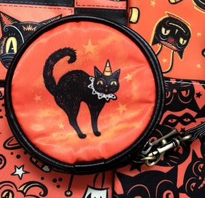 Johanna Parker Cat & Crow Round Case Or Cosmetic Bag