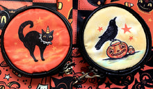 Load image into Gallery viewer, Johanna Parker Cat & Crow Round Case Or Cosmetic Bag