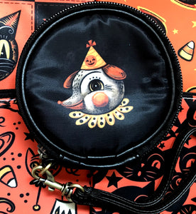 Johanna Parker Ghost & Dog Round Case Or Cosmetic Bag