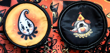 Load image into Gallery viewer, Johanna Parker Ghost & Dog Round Case Or Cosmetic Bag