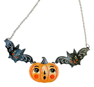 Lipstick & Chrome Jack-a-Boo & Batsy Too Necklace Johanna Parker