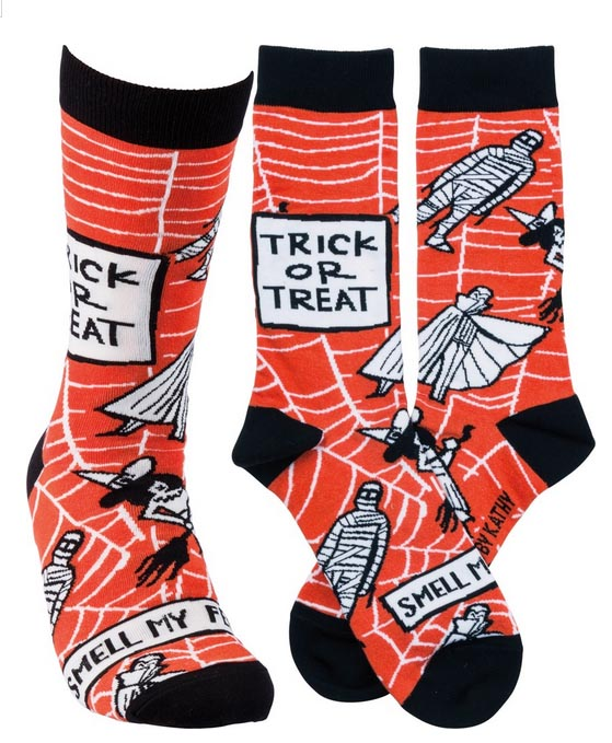 PRE-ORDER Halloween Socks Trick or Treat Smell My Feet