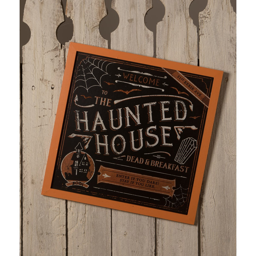 PRE-ORDER Haunted House Dead and Breakfast Sign
