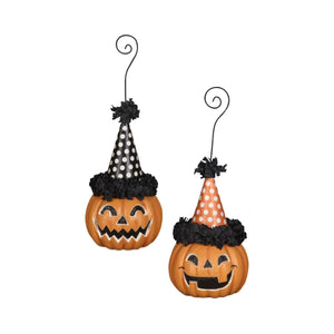 PRE-ORDER Party Pumpkin Ornament & Place Card Holder Set