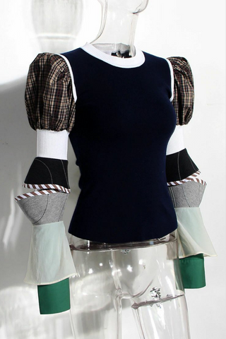 Style# 091920/navy, plaid and white multi color