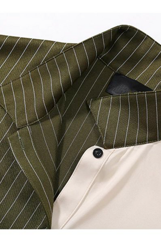 Style# 111642/olive pinstripe and cream/pre-order item/ETA 3 weeks from order date