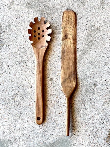 Acacia Pasta Spoon or Spatula