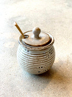 Honey Pot with Wood Spoon